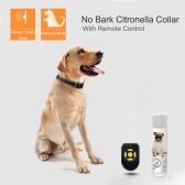 中型犬用リモコン充電式犬吠え防止カラー防水ストップ吠え装置付き犬用スプレートレーニングカラー