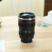 Tazza da caffè con obiettivo per fotocamera da 400 ml Tazza in acciaio inossidabile sigillata con coperchio Tazza per fotocamera per fotografo