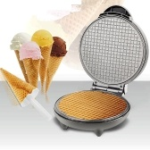 Double Sided Pancake Maker 8.3in Multifunctional Crisp Omelet Pan Ice Cream Cone Machine