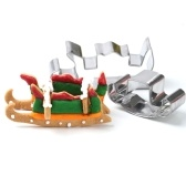 8 Pieces 3D Christmas Cookies Pastry Cutters Mold Set
