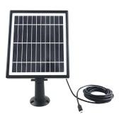 Panel solar de 5.5V 4W para cámara de seguridad Cargador de energía solar
