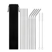 Reusable Metal Straws Set