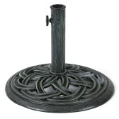 iKayaa 19.84LB Cast Iron Patio Garden Umbrella Base Stand High-quality Rust-free