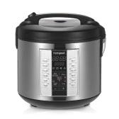 Homgeek 5L High-end Professional 20 Cup Cocedor de arroz cocido (10 tazas crudas) con vaporizador de alimentos