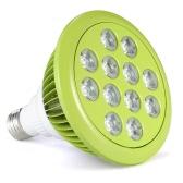 12W LED Plant Grow Light Lampe à lampe hydroponique 9 Rouge 3 LED bleues pour plantes à fleurs intérieures Croissance Serre à légumes AC100-240V E27