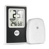 LCD Digital Wireless Thermometer Hygrometer Indoor Temperature Humidity and Outdoor Temperature Measurement °C/°F