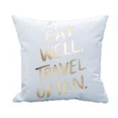 La manera simple decorativo del hogar banda Funda de almohada cubierta protectora de la cama de la cintura del coche del sofá amortiguador del regalo de la decoración