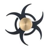Nueva novela de metal de aleación de aluminio de la persona agitada dedo de la mano Spinner vuelta Widget Enfoque juguete EDC bolsillo Desktoy regalo para el TDAH Niños Adultos aliviar la ansiedad Estrés híbrido cojinete de cerámica