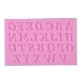 Lettres 3D Moule à gâteau en silicone Mousse à la sucrerie Fondant Fabrication Moule Outils Décoration DIY Mold Mold Alphabet