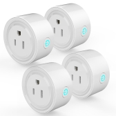 4Pack Smart Wi-Fi Mini Outlet Plug Switch funciona con Echo Alexa Remote Control US Plug
