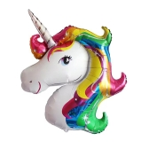 33 pulgadas Rainbow Unicorn Super Shape Foil Balloon Helium Quality