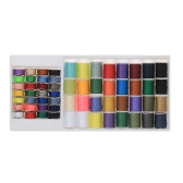 60pcs/set Mixed Colors Sewing Thread Set Metal Bobbins + Thread Spools for Brother Janome Kenmore Singer Household Electric Sewing Machines
