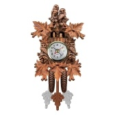 Cuckoo Wall Clock Bird Wood Hanging Decorations for Home Cafe Restaurant Art Vintage Chic Swing Living Room Style 1