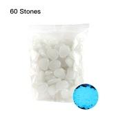 60pcs / sac cailloux lumineux pierres colorées