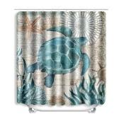 Turtles Printed Muster Badezimmer Duschvorhang