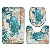 3pcs / set Черепахи Печатная модель Flannel Bathroom Set