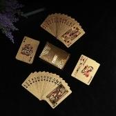Качественный пластиковый ПВХ-покер Водонепроницаемые черные игровые карты
