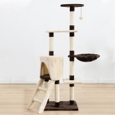 53-дюймовый Pet Cat Tree Pet Tree для кошек Cat Tower Cat Activity Tree Cat Scratchers Tree для котят Pet House Play