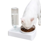 Pet Dog Cat Double Feeder Water Bowl Neck Protection Bowl 15 Degree Adjustable
