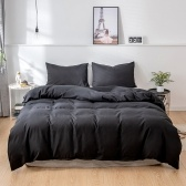 Three-Piece Suit Quilt Cover Pillowcase Beddings US-EU-Super-King Model Dark Blue