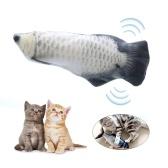 Électrique USB Charge Simulation Poisson Chat Jouet Drôle Interactif Animaux Chats Cataire Jouets pour Chat Kitty Chaton-Parfait pour Mordre Mâcher Coups de Pied