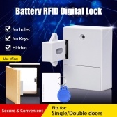 Intelligent RFID Card Sensor Cabinet Drawer Intelligent Lock DIY Invisible Digital Lock without Perforate Hole