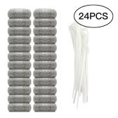 24 lotes lavadora trampas de pelusa pantalla de filtro de trampa lazos de malla de acero inoxidable