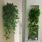 1 Pçs Plantas Artificiais Vinhas Verdura Rattan Falsa Planta Suspensa Falso Flores Penduradas Vinha para Parede Interior