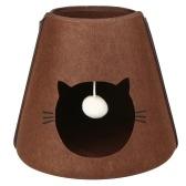 Кровать для кошек Кроватка для кошек из войлока со съемной подушкой