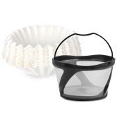 Cesta de filtro de café reutilizable Filtro de café y papel de filtro 100PCS
