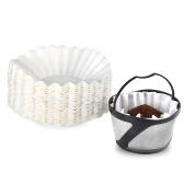 Reusable Coffee Filter Basket Coffee Filter and 100PCS Filter Paper