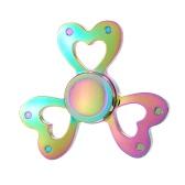 Fidget Juguetes Anti-Ansiedad Spinner 360 ° tri Triángulo mano dedo de enfoque EDC Focus Toy para niños adultos Reductor de estrés alivia ADHD Ansiedad escritorio portátil nuevo estilo de color arco iris forma de corazón