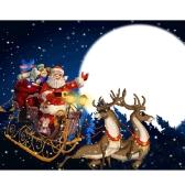 Handmade DIY Diamentowa malowana 5D Santa Claus Wzór wklejony ściegiem krzyżykowym do salonu Sypialnia dla dzieci
