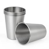 5pcs / set Хорошее качество 304 нержавеющей стали пиво Cup Cup Unbreakable Kid's Drinking Cup Пиво Pint Cups