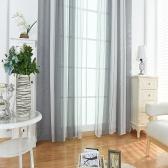 39 * 79 pouces Coton Lin Semi-Blackout Stripe Motif Fenêtre Rideau Panneau Salon Chambre Hôtel Divider Voile Rideau avec Poche Rod