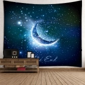 Galaxy Starry Star Earth colgante de pared y manta de fondo Fabric Multiuso vintage hippie de playa y toalla de yoga