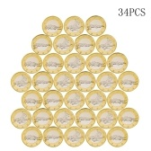 34pcs Novelty Sex Coin Germany Medals Gold Lover