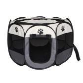 Съемная складная восьмиугольная палатка для домашних животных