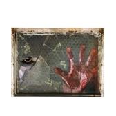 Etiqueta estereoscópica de la pared de la ventana de la demostración 3D