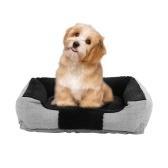 Cuccia per cani da compagnia durevole riscaldabile, confortevole e lavabile, cuccia per cuccioli con morbido cotone traspirante in PP