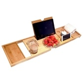 Bathtub Caddy Tray Bamboo Spa Bathtub Caddy Organizer