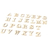 2キットポータブルデリケート木製26大文字