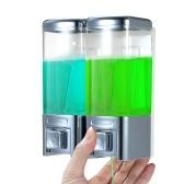 Dispenser doccia rimovibile grande capacità 2 camere montaggio a parete sapone lozione detergente shampoo per uso domestico commerciale cucina bagno ristorante hotel