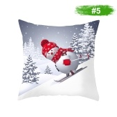 Christmas Snowman Pillowcase Cover Decoración para el hogar Sofá Funda de cojín 450 * 450 mm