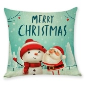 Christmas Series Cushion Pillow Cover Square Pillowcases Sofa Decoration Cartoon 18 x 18in