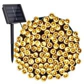 Luces solares de cadena de 100 LED