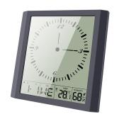 Modern Simple Temperature Humidity Square Clock