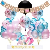 Baby Gender Reveal Party Supplies Pink&Blue Balloon Photo Props