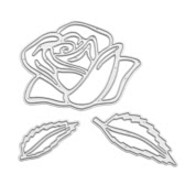 Metal Rose Flower Carbon Steel Template Embossing Cutting Dies Stencil Scrapbooking Decorative DIY Craft Paper Card
