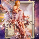 DIY Handmade 5D Diamond Painting Rhinestone Pasted Cross Stitch Beautiful Butterfly Fairy Pattern for Home Decoration